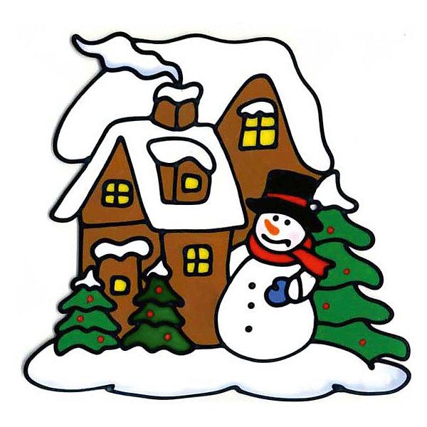 Наклейка на окно Winter Wings Снеговик у домика 25х25 см, ПВХНовогодние наклейки на окна<br>Наклейка декоративная на стекло СНЕГОВИК У ДОМИКА, 25*25 см, ПВХ<br><br>Ширина мм: 250<br>Глубина мм: 250<br>Высота мм: 2<br>Вес г: 50<br>Возраст от месяцев: 36<br>Возраст до месяцев: 2147483647<br>Пол: Унисекс<br>Возраст: Детский<br>SKU: 7220674