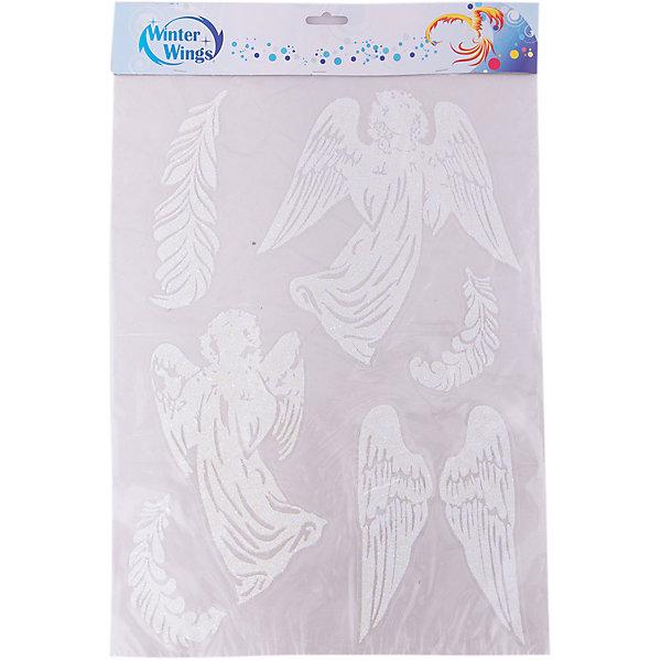 Наклейка панно Winter Wings Ангелочки 29,5х40 см, ПВХНовогодние наклейки на окна<br>Характеристики товара:<br><br>• возраст: от 3 лет;<br>• упаковка: пакет;<br>• количество: 6 шт.;<br>• цвет: белый;<br>• размеры: 29,5х40см.;<br>• форма: фигурная;<br>• состав: ПВХ;<br>• бренд, страна бренда: Winter Wings (Винтер Вингс), Канада;<br>• страна-производитель: Китай.<br><br>Наклейка панно декоративная «АНГЕЛОЧКИ» от торговой марки Winter Wings - это шесть фигурных объемных наклеек с изображением ангелочков, крыльев и перышек, которые вместе образуют прекрасный элемент декора и создадут в вашем доме по-настоящему новогоднюю атмосферу.<br><br>Универсальные наклейки выполненны из качественного материала белого цвета с блестящей крошкой и их можно быстро и легко прикрепить и открепить на любую поверхность.<br><br>Компания  Winter Wings  - настоящий эксперт в оригинальных качественных новогодних украшениях, один из самых широких новогодних ассортиментов на российском рынке.<br><br>Наклейку панно декоративную «АНГЕЛОЧКИ» , 6 шт, 29,5х40 см., Winter Wings  можно купить в нашем интернет-магазине.<br><br>Ширина мм: 295<br>Глубина мм: 400<br>Высота мм: 2<br>Вес г: 50<br>Возраст от месяцев: 36<br>Возраст до месяцев: 2147483647<br>Пол: Унисекс<br>Возраст: Детский<br>SKU: 7220676