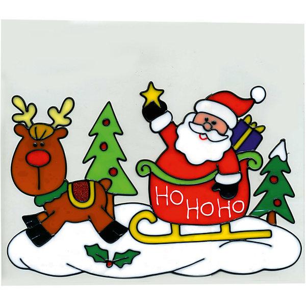 Наклейка панно на окно Winter Wings Санта 20х25 см, гелеваяНовогодние наклейки на окна<br>Характеристики товара:<br><br>• возраст: от 3 лет;<br>• упаковка: пакет;<br>• количество: 1 шт.;<br>• цвет: зеленый/красный;<br>• размеры: 20х25см.;<br>• форма: фигурная;<br>• состав: ПВХ;<br>• бренд, страна бренда: Winter Wings (Винтер Вингс), Канада;<br>• страна-производитель: Китай.<br><br>Наклейка-панно декоративная на стекло «САНТА С НА САНЯХ» от торговой марки Winter Wings - это большая гелевая фигурная наклейка с изображением Деда Мороза, которая станет прекрасным элементом декора на стекло, создав новогоднюю атмосферу в вашем доме, и обязательно порадует ваших родных и близких.<br><br>Наклейка выполненна из качественного материала на гелевой основе и ее можно быстро и легко прикрепить и открепить на стеклянную поверхность.<br><br>Компания  Winter Wings  - настоящий эксперт в оригинальных качественных новогодних украшениях, один из самых широких новогодних ассортиментов на российском рынке.<br><br>Наклейку-панно декоративную на стекло «САНТА НА САНЯХ» , 1 шт, 20х25 см., Winter Wings  можно купить в нашем интернет-магазине.<br>Ширина мм: 200; Глубина мм: 250; Высота мм: 2; Вес г: 83; Возраст от месяцев: 36; Возраст до месяцев: 2147483647; Пол: Унисекс; Возраст: Детский; SKU: 7220685;