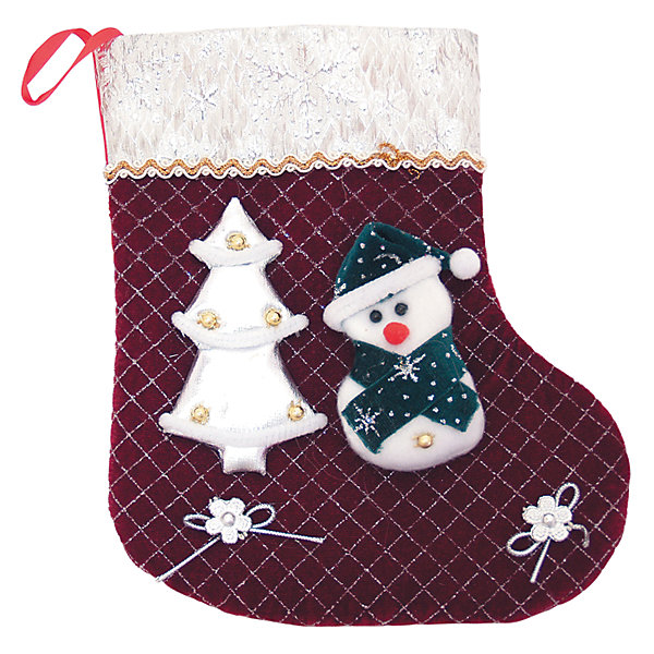 Носок для подарков Winter Wings Снеговик, 25 см