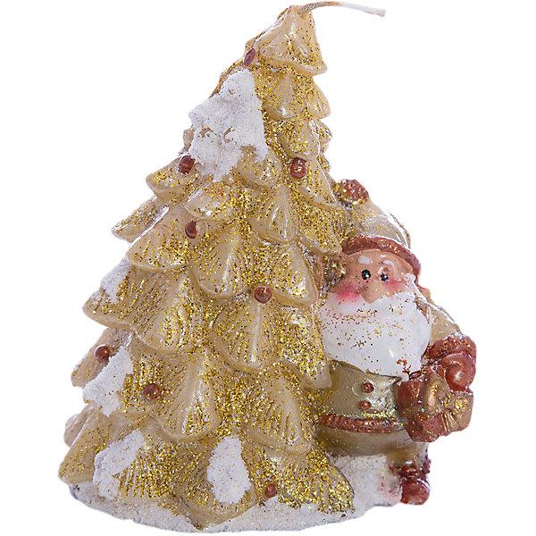 Свеча Winter Wings Елка, 8 смНовогодние свечи и подсвечники<br>Характеристики товара:<br><br>• возраст: от 3 лет;<br>• упаковка: пакет;<br>• вес: 105 гр.;<br>• количество: 1 шт;<br>• цвет: золотой;<br>• форма: фигурная;<br>• размеры свечки: 10х8 см.;<br>• состав: парафин;<br>• бренд, страна бренда: Winter Wings (Винтер Вингс), Канада;<br>• страна-производитель: Китай.<br><br>Свеча «ЕЛКА с Дедом Морозом» от торговой марки Winter Wings - фигурная свечка в виде заснеженной елки золотого цвета с Дедом Морозом поможет прекрасно украсить интерьер дома и создать сказочную атмосферу праздника.<br><br>Свеча изготовленна из качественного парафина и упакована в прочный пакет, отлично подойдет в качестве хорошего сувенира для друзей и близких.<br><br>Компания  Winter Wings  - настоящий эксперт в оригинальных качественных новогодних украшениях, один из самых широких новогодних ассортиментов на российском рынке.<br><br>Свечу «ЕЛКА с Дедом Морозом», 10х8 см., Winter Wings  можно купить в нашем интернет-магазине.<br><br>Ширина мм: 100<br>Глубина мм: 80<br>Высота мм: 20<br>Вес г: 104<br>Возраст от месяцев: 36<br>Возраст до месяцев: 2147483647<br>Пол: Унисекс<br>Возраст: Детский<br>SKU: 7220703