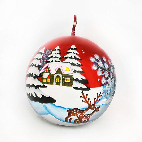 Свеча-шар Winter Wings Зимний Лес, 7,3х7,3 смНовинки Новый Год<br>Характеристики товара:<br><br>• возраст: от 3 лет;<br>• упаковка: пакет;<br>• вес: 210 гр.;<br>• количество: 1 шт;<br>• цвет: красный;<br>• форма: шар;<br>• размеры свечки: 7,3х7,3 см.;<br>• состав: парафин;<br>• бренд, страна бренда: Winter Wings (Винтер Вингс), Канада;<br>• страна-производитель: Китай.<br><br>Свеча «ШАР ЗИМНИЙ ЛЕС» от торговой марки Winter Wings - парафиновая свечка в форме шара с изображением заснеженного зимнего леса поможет прекрасно украсить интерьер дома и создать сказочную атмосферу праздника.<br><br>Свеча изготовленна из качественного парафина красного цвета и упакована в прочный пакет, отлично подойдет в качестве хорошего сувенира для друзей и близких.<br><br>Компания  Winter Wings  - настоящий эксперт в оригинальных качественных новогодних украшениях, один из самых широких новогодних ассортиментов на российском рынке.<br><br>Свечу «ШАР ЗИМНИЙ ЛЕС», 7,3х7,3 см., Winter Wings  можно купить в нашем интернет-магазине.<br><br>Ширина мм: 73<br>Глубина мм: 73<br>Высота мм: 20<br>Вес г: 206<br>Возраст от месяцев: 36<br>Возраст до месяцев: 2147483647<br>Пол: Унисекс<br>Возраст: Детский<br>SKU: 7220712