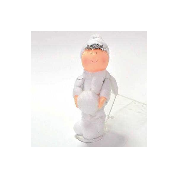 Декоративное украшение Winter Wings Мальчик со снежком, 15 смНовогодние сувениры<br>Характеристики товара:<br><br>• возраст: от 3 лет;<br>• упаковка: пакет;<br>• вес: 35 гр.;<br>• количество: 1 шт.;<br>• цвет: белый;<br>• высота: 15 см.;<br>• форма: фигруная;<br>• материал: полимерный материал;<br>• бренд, страна бренда: Winter Wings (Винтер Вингс), Канада;<br>• страна-производитель: Китай.<br><br>Украшение декоративное «МАЛЬЧИК СО СНЕЖКОМ» от торговой марки Winter Wings прекрасно подойдет для праздничного декора новогодней ели. Изделие выполнено из качественного полимерного материала. Для удобного размещения на елке на украшении предусмотрена веревочка.<br><br>Елочная игрушка - символ Нового года и Рождества. Она несет в себе волшебство и красоту праздника. Создайте в своем доме атмосферу веселья и радости, украшая новогоднюю елку нарядными игрушками, которые будут из года в год накапливать теплоту воспоминаний. <br><br>Компания  Winter Wings  - настоящий эксперт в оригинальных качественных новогодних украшениях, один из самых широких новогодних ассортиментов на российском рынке.<br><br>Украшение декоративное «МАЛЬЧИК СО СНЕЖКОМ», 1 шт, высота 15 см., Winter Wings  можно купить в нашем интернет-магазине.<br><br>Ширина мм: 150<br>Глубина мм: 60<br>Высота мм: 30<br>Вес г: 35<br>Возраст от месяцев: 36<br>Возраст до месяцев: 2147483647<br>Пол: Унисекс<br>Возраст: Детский<br>SKU: 7220717