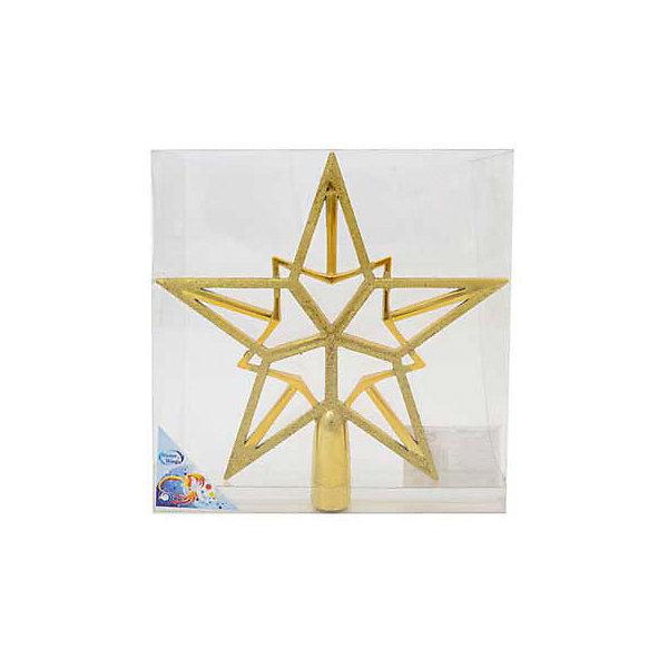 Украшение на елку Winter Wings Звезда, 20 смЁлочные игрушки<br>Характеристики товара:<br><br>• возраст: от 3 лет;<br>• упаковка: подарочная коробка;<br>• вес: 135 гр.;<br>• количество: 1 шт.;<br>• цвет: золотой;<br>• высота: 20 см.;<br>• форма: звезда;<br>• материал: пластик;<br>• бренд, страна бренда: Winter Wings (Винтер Вингс), Канада;<br>• страна-производитель: Китай.<br><br>Наконечник «Звезда» от торговой марки Winter Wings - елочное украшение, без которого не может обойтись ни одна зеленая красавица. Украшение выполненно из качественного платика и с помощью специальной насадки одевается на праздничную новогоднюю елку.<br><br>Наконечник «Звезда» золотого цвета, упакован в прозрачную коробку, отлично подойдет в качестве хорошего новогоднего сувенира родным и близким.<br><br>Елочная игрушка - символ Нового года и Рождества. Она несет в себе волшебство и красоту праздника. Создайте в своем доме атмосферу веселья и радости, украшая новогоднюю елку нарядными игрушками, которые будут из года в год накапливать теплоту воспоминаний. <br><br>Компания  Winter Wings  - настоящий эксперт в оригинальных качественных новогодних украшениях, один из самых широких новогодних ассортиментов на российском рынке.<br><br>Наконечник «Звезда», 1 шт, высота 20 см., Winter Wings  можно купить в нашем интернет-магазине.<br>Ширина мм: 200; Глубина мм: 200; Высота мм: 40; Вес г: 135; Возраст от месяцев: 36; Возраст до месяцев: 2147483647; Пол: Унисекс; Возраст: Детский; SKU: 7220729;