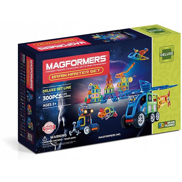 Магнитный конструктор Magformers Brain Master setМагнитные конструкторы<br>Характеристики товара:<br><br>• возраст: от 3 лет;<br>• материал: пластик;<br>• в комплекте: 300 элементов, инструкция;<br>• размер упаковки: 82,5х49,5х13,5 см;<br>• вес упаковки: 7,9 кг;<br>• страна производитель: Корея.<br><br>Магнитный конструктор Magformers Brain Master set позволит детям построить из элементов фигурки, домики, башни, машинки. Удивительная особенность данного конструктора состоит в том, что детали конструктора надежно и крепко соединяются между собой благодаря магнитам. Магниты внутри деталей уже сделаны таким образом, что позволяют элементам присоединяться и поворачиваться друг к другу нужной стороной.<br><br>Конструктор развивает у детей пространственное и логическое мышление, мелкую моторику рук, воображение и фантазию. Помимо этого, в процессе игры ребенок знакомится с основными геометрическими фигурами. Элементы выполнены из прочного качественного пластика.<br><br>Магнитный конструктор Magformers Brain Master set можно приобрести в нашем интернет-магазине.<br>Ширина мм: 495; Глубина мм: 825; Высота мм: 135; Вес г: 7900; Возраст от месяцев: 36; Возраст до месяцев: 168; Пол: Унисекс; Возраст: Детский; SKU: 7221165;