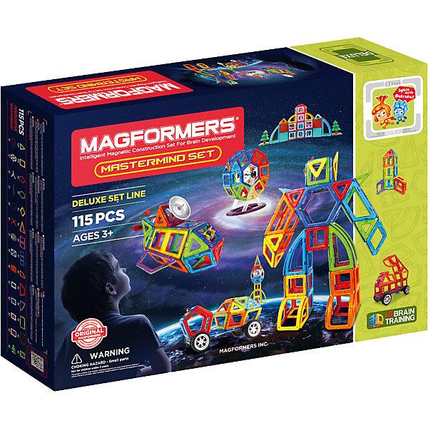 Магнитный конструктор Magformers Mastermind setМагнитные конструкторы<br><br><br>Ширина мм: 410<br>Глубина мм: 580<br>Высота мм: 90<br>Вес г: 3150<br>Возраст от месяцев: 36<br>Возраст до месяцев: 168<br>Пол: Унисекс<br>Возраст: Детский<br>SKU: 7221167