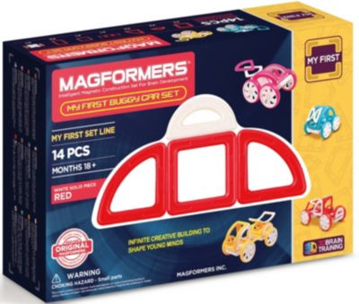 MAGFORMERS Магнитный конструктор Magformers My First Buggy, красный