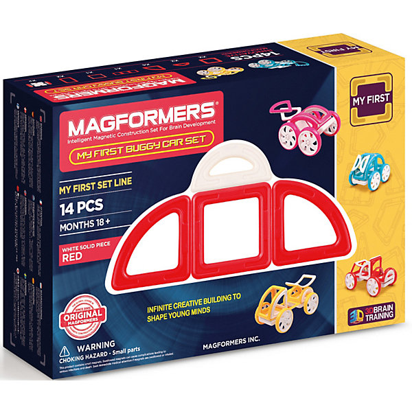 Магнитный конструктор Magformers My First Buggy, красныйМагнитные конструкторы<br><br><br>Ширина мм: 180<br>Глубина мм: 270<br>Высота мм: 80<br>Вес г: 650<br>Возраст от месяцев: 36<br>Возраст до месяцев: 168<br>Пол: Унисекс<br>Возраст: Детский<br>SKU: 7221175