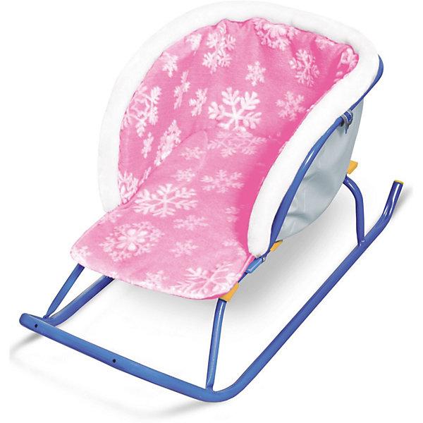Сиденье для санок Nika-Kids Снежинки, меховое (розовое)Санки и аксессуары<br>Характеристики товара:<br><br>• возраст: от 3 лет;                                                                                                                                                                                                   • пол: для девочек и мальчиков;<br>• цвет: розовый;<br>• принт: снежинки;<br>• сиденье: мягкое;<br>• материал верха и низа: ткань с водоотталкивающей пропиткой;<br>• внутренний утеплитель: поролон;<br>• страна обладатель бренда: Россия.<br><br>Сиденье достаточно просторное, поэтому не будет сковывать и мешать движениям ребенка в зимней одежде.<br><br>Цвет сидения яркий. Имеется удобный подлокотник.<br><br>Сиденье надежно крепиться и хорошо прилегает к любой модели санок.<br><br>Материал приятен на ощупь, не продувается и не промокает. В случае загрязнения изделие хорошо стирается.<br><br>Сиденье без чехла для ног можно купить в нашем интернет-магазине.<br><br>Ширина мм: 490<br>Глубина мм: 230<br>Высота мм: 300<br>Вес г: 370<br>Возраст от месяцев: 12<br>Возраст до месяцев: 60<br>Пол: Женский<br>Возраст: Детский<br>SKU: 7221224