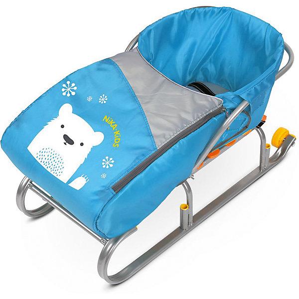 Сиденье для санок с чехлом для ног Nika-Kids, (мишка, голубой)Санки и снегокаты<br>Характеристики товара:<br><br>• возраст: от 12 месяцев;                                                                                                                                                                                                   • пол: для девочек и мальчиков;<br>• цвет: голубой;<br>• принт: белый мишка;<br>• комплект: сидение, чехол для ног на молнии;<br>• материал: текстиль, утеплитель, металл, пластик;<br>• упаковка: пакет;<br>• размер сидения в разложенном виде: 70x37x22 см.;<br>• размер сидения в собранном виде: 7x3x2,2 см.;<br>• страна обладатель бренда: Россия.<br><br>Сиденье для санок представлено в голубом цвете и обладает чехлом для ног, поэтому кататься в нем будет всегда тепло. Материал приятен на ощупь, не продувается и не промокает.<br><br>Чехол для ног держится на двух застежках-молниях, которые располагаются по бокам, поэтому в любой момент его можно откинуть. <br><br>Кататься на санках в таком сиденье менее травмоопасно.<br><br>Сиденье с чехлом для ног можно купить в нашем интернет-магазине.<br><br>Ширина мм: 650<br>Глубина мм: 260<br>Высота мм: 370<br>Вес г: 430<br>Возраст от месяцев: 12<br>Возраст до месяцев: 60<br>Пол: Мужской<br>Возраст: Детский<br>SKU: 7221225