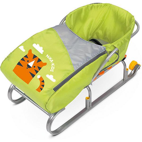 Сиденье для санок с чехлом для ног Nika-Kids, (тигренок, лимонный)Санки и аксессуары<br>Характеристики товара:<br><br>• возраст: от 12 месяцев;                                                                                                                                                                                                   • пол: для девочек и мальчиков;<br>• цвет: лимонный;<br>• принт: тигр;<br>• комплект: сидение, чехол для ног на молнии;<br>• материал: текстиль, утеплитель, металл, пластик;<br>• упаковка: пакет;<br>• размер сидения в разложенном виде: 70x37x22 см.;<br>• размер сидения в собранном виде: 7x3x2,2 см.;<br>• страна обладатель бренда: Россия.<br><br>Сиденье для санок представлено в лимонном цвете и обладает чехлом для ног, поэтому кататься в нем будет всегда тепло. Материал приятен на ощупь, не продувается и не промокает.<br><br>Чехол для ног держится на двух застежках-молниях, которые располагаются по бокам, поэтому в любой момент его можно откинуть. <br><br>Кататься на санках в таком сиденье менее травмоопасно.<br><br>Сиденье с чехлом для ног можно купить в нашем интернет-магазине.<br><br>Ширина мм: 650<br>Глубина мм: 260<br>Высота мм: 370<br>Вес г: 430<br>Возраст от месяцев: 12<br>Возраст до месяцев: 60<br>Пол: Мужской<br>Возраст: Детский<br>SKU: 7221228