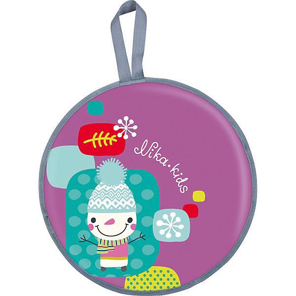 Ледянка Nika-Kids Снеговик, 45 смЛедянки<br>Характеристики товара:<br><br>• возраст: от 3 лет;                                                                                                                                                                                                   • пол: для девочек и мальчиков;<br>• форма: круглая;<br>• материал: текстиль, автотент, поролон;<br>• сиденье: мягкое из поролона;<br>• принт: снеговик;<br>• диаметр: 45 см;<br>• cтрана обладатель бренда: Россия.<br><br>Мягкая ледянка состоит из прочного автотента. Ее особенностью является наличие текстильного покрытия и поролонового наполнителя внутри, что обеспечивает термозащиту и полный комфорт при катании. <br><br>Кроме того, ледянка оснащена специальной ручкой, за которую можно будет держаться во время езды или повесить ее на крючок. <br><br>Ледянка оформлена изображением снеговика. Изделие прослужит долгое время.<br><br>Ледянку можно купить в нашем интернет-магазине.<br><br>Ширина мм: 465<br>Глубина мм: 100<br>Высота мм: 465<br>Вес г: 205<br>Возраст от месяцев: 36<br>Возраст до месяцев: 84<br>Пол: Унисекс<br>Возраст: Детский<br>SKU: 7221246