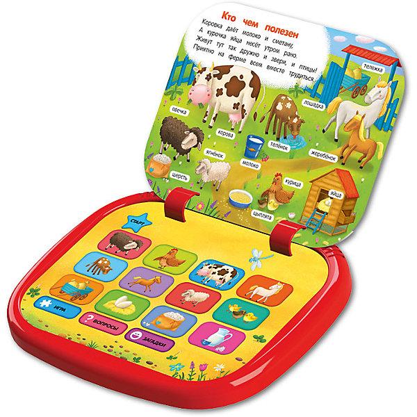 Говорящий планшет Азбукварик Все о животныхДетские гаджеты<br>Характеристики товара:<br><br>• возраст: от 2 лет;<br>• размер планшета: 22,6х19 см;<br>• ISBN: 978-5-490-00276-5;<br>• батарейки: ААА - 3 шт. (входят в комплект);<br>• размер упаковки: 24,5х26,5х4 см;<br>• страна бренда: Россия;<br>• страна производитель: Китай.<br><br>Детский планшетик «Все о животных» познакомит малыша с дикими, домашними животными, а также с особенностями их жизни. Планшетик состоит из нескольких страниц, закрепленных на кольцах. На каждой странице - новая тема. Всего 6 обучающих тем: лесные угощения, кто чем полезен, веселый зоопарк, лесные домишки, домики на ферме, песенки. Игрушка содержит 70 озвученных картинок, 5 весёлых песенок и интересные обучающие игры.<br><br>Все о животных, Азбукварик можно купить в нашем интернет-магазине.<br><br>Ширина мм: 226<br>Глубина мм: 190<br>Высота мм: 20<br>Вес г: 420<br>Возраст от месяцев: 36<br>Возраст до месяцев: 60<br>Пол: Унисекс<br>Возраст: Детский<br>SKU: 7221430