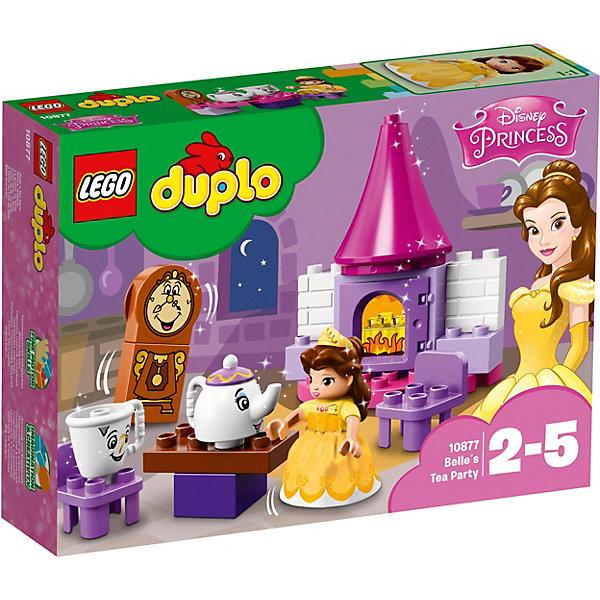 Конструктор LEGO DUPLO 10877: Чаепитие у БелльLEGO<br>Характеристики товара:<br><br>• возраст: от 2 лет;<br>• серия LEGO: Duplo;<br>• материал: пластик;<br>• количество деталей: 19 шт.;<br>• количество минифигурок: 4;<br>• размер камина: 14х12х6 см;<br>• размер упаковки: 19х26х6 см;<br>• вес упаковки: 263 гр.;<br>• страна бренда: Дания.<br><br>Конструктор LEGO Duplo: «Чаепитие у Белль» содержит крупные детали, предназначенные для самых юных строителей. Набор содержит фигурки известных сказочных персонажей из сказки «Красавица и чудовище»: Белль, чайник миссис Поттс, чашка Чип и часы Когсворт. Игровая сцена оставляет простор для сюжетов из фантазии ребенка.<br><br>Набор развивает мелкую моторику, воображение и усидчивость. Элементы конструктора выполнены в ярких цветах из безопасного и прочного пластика.<br><br>Особенности и функционал:<br><br>• дверь камина открывается;<br>• камин можно перестроить в шкаф с посудой или печь.<br><br>Конструктор LEGO Duplo 10877: «Чаепитие у Белль» можно купить в нашем интернет-магазине.<br>Ширина мм: 262; Глубина мм: 192; Высота мм: 63; Вес г: 258; Возраст от месяцев: 24; Возраст до месяцев: 60; Пол: Женский; Возраст: Детский; SKU: 7221447;