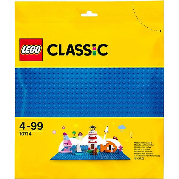 Конструктор LEGO Classic 10714: Синяя базовая пластинаLEGO<br>Характеристики товара:<br><br>• возраст: от 4 лет;<br>• серия LEGO: Classic;<br>• материал: пластик;<br>• количество деталей: 1 шт.;<br>• размер упаковки: 26х26 см;<br>• вес упаковки: 104 гр.;<br>• страна бренда: Дания.<br><br>LEGO Classic: «Синяя базовая пластина» может быть использована как основа для строительства любых водных сооружений, подходит в качестве крыши или пола в домиках. Базовый элемент выполнен из безопасного и прочного пластика.<br><br>Особенности и функционал:<br><br>• 32х32 штырька на пластине;<br>• подходит для использования с любыми наборами LEGO.<br><br>Конструктор LEGO Classic 10714: «Синяя базовая пластина» можно купить в нашем интернет-магазине.<br>Ширина мм: 269; Глубина мм: 261; Высота мм: 10; Вес г: 102; Возраст от месяцев: 48; Возраст до месяцев: 144; Пол: Унисекс; Возраст: Детский; SKU: 7221456;