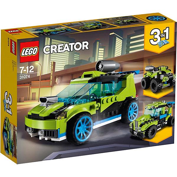 Конструктор LEGO Creator 31074: Суперскоростной раллийный автомобильLEGO<br>Конструктор LEGO Creator 31074: Суперскоростной раллийный автомобиль<br>Ширина мм: 264; Глубина мм: 190; Высота мм: 65; Вес г: 420; Возраст от месяцев: 84; Возраст до месяцев: 144; Пол: Мужской; Возраст: Детский; SKU: 7221464;