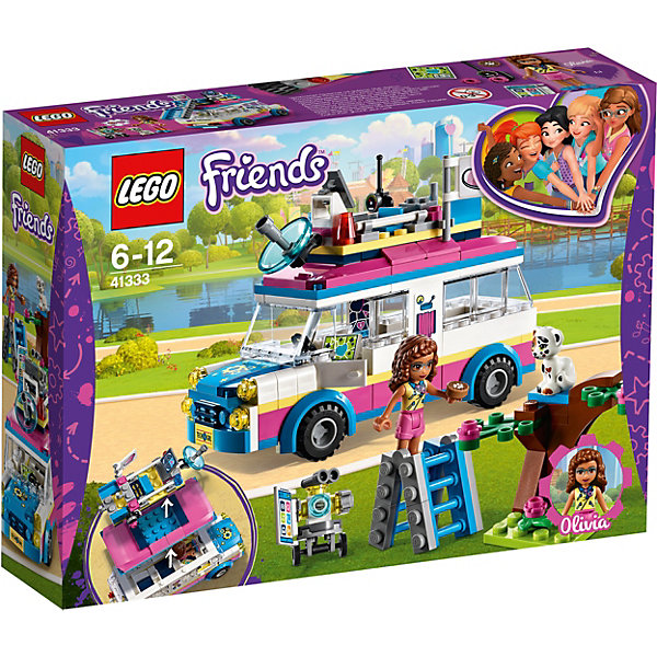 Купить Конструктор LEGO Friends 41333: Передвижная научная лаборатория Оливии, Китай, Женский