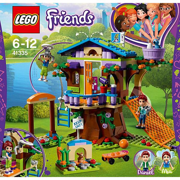 Конструктор LEGO Friends 41335: Домик Мии на деревеLEGO Friends<br>Характеристики товара:<br><br>• возраст: от 6 лет;<br>• серия LEGO: Friends;<br>• материал: пластик;<br>• количество деталей: 351 шт.;<br>• в наборе: домик, коробка, книга, журнал, скейт, бумеранг, мяч, гантели, молоток, ножницы, рация, водяной пистолет, гнездо, яйцо, морковь, цветы, чашка, бутылочка;<br>• количество минифигурок: 4;<br>• размер домика на дереве: 16х17х16 см;<br>• размер упаковки: 26х28х7 см;<br>• вес упаковки: 570 гр.;<br>• страна бренда: Дания.<br><br>Конструктор LEGO Friends: «Домик Мии на дереве» представляет игровой комплекс в домике на дереве для Мии и ее брата Даниэля.<br><br>В домике есть все необходимое для веселья: сетка для скатывания, спусковой канат, чердак с находками и вкусная еда. Для птички предусмотрено гнездо, а зайчик отлично устроится в своем домике.<br><br>Элементы набора детализированы, выполнены из качественного безопасного пластика.<br><br>Особенности и функционал:<br><br>• к стене домика на втором этаже крепится канат, по которому можно спустить фигурку с помощью карабина;<br>• колеса скейтборда вращаются;<br>• подходит для использования с другими наборами серии LEGO Friends.<br><br>Конструктор LEGO Friends 41335: «Домик Мии на дереве» можно купить в нашем интернет-магазине.<br>Ширина мм: 280; Глубина мм: 261; Высота мм: 81; Вес г: 576; Возраст от месяцев: 72; Возраст до месяцев: 144; Пол: Женский; Возраст: Детский; SKU: 7221475;