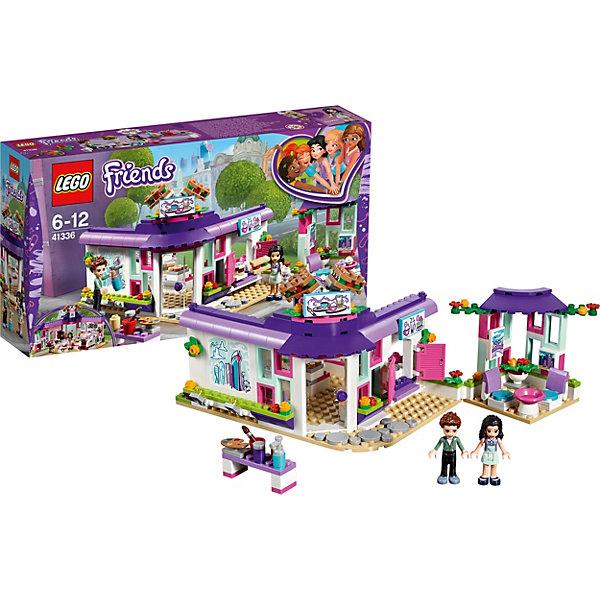 Конструктор LEGO Friends 41336: Арт-кафе ЭммыLEGO Friends<br>Характеристики товара:<br><br>• возраст: от 6 лет;<br>• серия LEGO: Friends;<br>• материал: пластик;<br>• количество деталей: 378 шт.;<br>• в наборе: арт-кафе, баллон с краской, кисточка, палитра, ведро, вазон с цветами, вывеска, бутерброды, кексы, пирожные, чашка, тарелка, духовка;<br>• количество минифигурок: 2;<br>• размер кафе: 19х16х16 см;<br>• размер упаковки: 26х28х7 см;<br>• вес упаковки: 584 гр.;<br>• страна бренда: Дания.<br><br>Из деталей конструктора LEGO Friends: «Арт-кафе Эммы» можно собрать красочное кафе, в котором Эмма и ее друг Bnfy будут вдохновляться на новые шедевры.<br><br>Конструктор содержит яркие детализированные элементы и аксессуары, которые оживляют игровой процесс. Стены кафе украшены граффити и картинами Эммы. Внутри есть все необходимое для работы заведения общественного питания.<br><br>Конструктор выполнен из качественного безопасного пластика.<br><br>Особенности и функционал:<br><br>• терасса может являться отдельной пристройкой или продолжением кафе;<br>• двери и окна открываются;<br>• подвижные прожекторы на стене кафе;<br>• подходит для использования с другими наборами серии LEGO Friends.<br><br>Конструктор LEGO Friends 41336: «Арт-кафе Эммы» можно купить в нашем интернет-магазине.<br>Ширина мм: 351; Глубина мм: 192; Высота мм: 76; Вес г: 584; Возраст от месяцев: 72; Возраст до месяцев: 144; Пол: Женский; Возраст: Детский; SKU: 7221476;