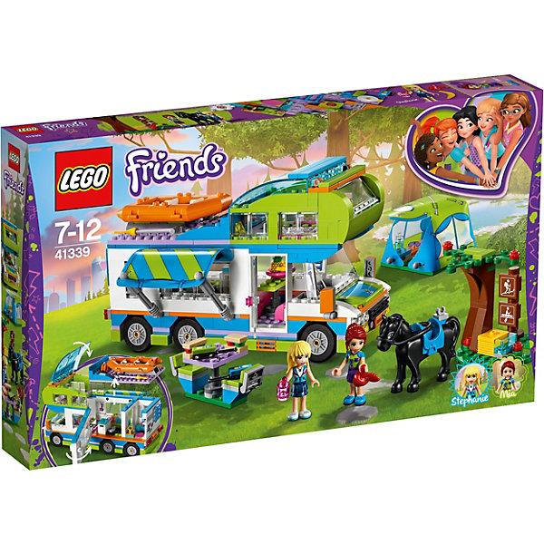 Конструктор LEGO Friends 41339: Дом на колёсахLEGO Friends<br>Характеристики товара:<br><br>• возраст: от 7 лет;<br>• серия LEGO: Friends;<br>• материал: пластик;<br>• количество деталей: 488 шт.;<br>• в наборе: дом-фургон, надувная лодка, палатка, стол, рации, дерево, чашка, тарелка, бутерброды, банан;<br>• количество минифигурок: 3;<br>• размер фургона: 13х22х11 см;<br>• размер упаковки: 28х48х6 см;<br>• вес упаковки: 1,06 кг.;<br>• страна бренда: Дания.<br><br>Конструктор LEGO Friends: «Дом на колесах» представляет передвижной фургон со всеми необходимыми приспособлениями для отдыха Стефани, Мии и их лошадки на природе. Конструктор содержит яркие детализированные элементы и аксессуары, которые оживляют игровой процесс.<br> <br>Набор выполнен из качественного безопасного пластика.<br><br>Особенности и функционал:<br><br>• крыша фургона открывается;<br>• внутри фургона кабина для двух миникукол, ванная комната с туалетом и раковиной, кухня с холодильником, плитой, раковиной и обеденной зоной;<br>• складной навес;<br>• подходит для использования с другими наборами серии LEGO Friends.<br><br>Конструктор LEGO Friends 41339: «Дом на колесах» можно купить в нашем интернет-магазине.<br>Ширина мм: 480; Глубина мм: 61; Высота мм: 282; Вес г: 1005; Возраст от месяцев: 84; Возраст до месяцев: 144; Пол: Женский; Возраст: Детский; SKU: 7221478;