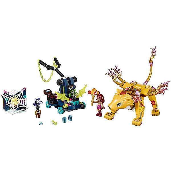 Конструктор LEGO Elves 41192: Ловушка для Азари и огненного льваLEGO Elves<br>Характеристики товара:<br><br>• возраст: от 8 лет;<br>• серия LEGO: Elves;<br>• материал: пластик;<br>• количество деталей: 360 шт.;<br>• количество минифигурок: 4;<br>• в наборе: сторожевой огненный лев Роуэн, установка с катапультой и летучей платформой, пещера, паутина, камин, 2 кровати летучих мышей, ведро с водой, куриная нога, молот силы Азари, розовый кекс, вишневый кекс, компас, карта, элементы воды, чашка, огненный бриллиант;<br>• размер льва: 10х21х15 см;<br>• размер упаковки: 19х35х5 см;<br>• вес упаковки: 416 гр.;<br>• страна бренда: Дания.<br><br>Конструктор LEGO Elves: «Ловушка для Азари и огненного льва» содержит минифигурки Азари, летучих мышей Веспе и Моло и коварного паука.<br><br>Собранный конструктор изображает сцену битвы, в которой Азари пытается победить напавших на нее и ее льва летучих мышей тьмы. В арсенале врагов катапульта и летающая платформа. Они готовы на все, чтобы заполучить бриллиант с головы могучего Роуэна.<br><br>Части набора детализированы. Конструктор выполнен из прочного безопасного пластика.<br><br>Особенности и функционал:<br><br>• на голову льву можно установить бриллиант, а на спину Азари;<br>• у Роуэна подвижные части тела;<br>• функциональная катапульта, стреляет элементами воды;<br>• рогатка с цепью накидывается на льва;<br>• подходит для использования с другими наборами серии LEGO Elves.<br><br>Конструктор LEGO Elves 41192: «Ловушка для Азари и огненного льва» можно купить в нашем интернет-магазине.<br>Ширина мм: 354; Глубина мм: 59; Высота мм: 191; Вес г: 416; Возраст от месяцев: 96; Возраст до месяцев: 144; Пол: Женский; Возраст: Детский; SKU: 7221482;