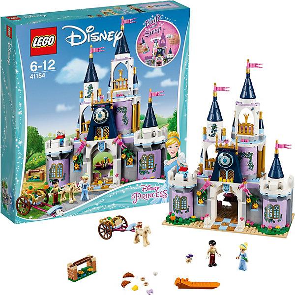 Конструктор LEGO Disney Princess 41154: Волшебный замок ЗолушкиПринцессы Дисней<br>Характеристики товара:<br><br>• возраст: от 6 лет;<br>• серия LEGO: Disney Princess;<br>• материал: пластик;<br>• количество деталей: 585 шт.;<br>• в наборе: замок, мангал, повозка, мебель, хрустальная туфелька, книга приглашений, флаконы духов, драгоценности, расческа, круассаны, печенье, сыр, тыквы, бутылка, кастрюли, бокалы;<br>• количество минифигурок: 5;<br>• размер замка: 34х25х12 см;<br>• размер упаковки: 37х35х7 см;<br>• вес упаковки: 1,14 кг.;<br>• страна бренда: Дания.<br><br>С конструктором LEGO Disney Princess: «Волшебный замок Золушки» легко воссоздать моменты из любимого мультфильма.<br><br>В распоряжении ребенка окажется 5 фигурок – Золушка, принц, лошадь и две мышки. Роскошный замок, наполненный мебелью и акссуарами, и повозка для путешествий помогут создать множество игровых сюжетов.<br><br>Элементы конструктора высоко детализированы, выполнены из безопасного прочного пластика.<br><br>Особенности и функционал:<br><br>• на левой башне замка имеется пьедестал для туфельки;<br>• для Золушки или принца предусмотрен трон на верхней башне;<br>• в замке есть обеденная зона со столом и стульями, спальня с секретным отсеком на кровати, камин с тайным укрытием, балкон с вращающимся танцполом, кухня, гардеробная, зона отдыха с шезлонгом;<br>• подходит для использования с другими наборами серии LEGO Disney Princess.<br><br>Конструктор LEGO Disney Princess 41154: «Волшебный замок Золушки» можно купить в нашем интернет-магазине.<br><br>Ширина мм: 377<br>Глубина мм: 345<br>Высота мм: 78<br>Вес г: 1147<br>Возраст от месяцев: 72<br>Возраст до месяцев: 144<br>Пол: Женский<br>Возраст: Детский<br>SKU: 7221488