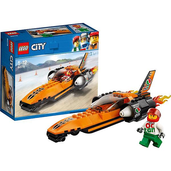 LEGO City Great Vehicles 60178: Гоночный автомобильLEGO<br>Характеристики товара:<br><br>• возраст: от 5 лет;<br>• серия LEGO: City;<br>• материал: пластик;<br>• в комплекте: 78 деталь, 1 минифигурка;<br>• размер упаковки: 16х14х6,1 см;<br>• вес упаковки: 200 гр.;<br>• страна производитель: Чехия.<br><br>Из деталей конструктора вы сможете собрать мощный гоночный автомобиль, выполненный в оранжево-черном цвете с белыми вставками. У него удлиненная спереди форма кузова, по бокам расположены огромные турбины, а сзади хвост, как у самолета, все украшено логотипами команды минифигурки по гонкам. <br><br>Особенности и функционал:<br><br>• вращающиеся колёса;<br>• поднимающееся стекло шлема;<br>• открывающаяся кабина;<br>• подходит для использования с другими наборами серии LEGO City.<br><br>LEGO City Great Vehicles 60178: Гоночный автомобиль можно купить в нашем интернет-магазине.<br><br>Ширина мм: 158<br>Глубина мм: 144<br>Высота мм: 63<br>Вес г: 153<br>Возраст от месяцев: 60<br>Возраст до месяцев: 144<br>Пол: Мужской<br>Возраст: Детский<br>SKU: 7221495