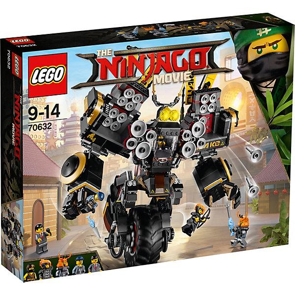 Конструктор LEGO Ninjago 70632: Робот землетрясенийLEGO NINJAGO<br>Характеристики товара:<br><br>• возраст: от 9 лет;<br>• серия LEGO: Ninjago;<br>• материал: пластик;<br>• количество деталей: 1202 шт.;<br>• количество минифигурок: 5;<br>• в наборе: робот, микрофон, молот, лук, колчан, шлем, меч, копье;<br>• размер логова: 26х31х16 см;<br>• размер упаковки: 37х48х9 см;<br>• вес упаковки: 1,67 кг.;<br>• страна бренда: Дания.<br><br>Конструктор LEGO Ninjago: «Робот землятрясений» содержит 5 фигурок героев для сюжетных игр: Коул, Фред Финли, Мисако, Майк-колючка, Дробилка.<br><br>Мощный робот землятрясений передвигается на большом колесе. Его главное оружие громкий звук, который исходит из множества динамиков. Над кабиной пилота сверкают яркие прожекторы с мечами. Справиться с роботом под силу только тем, кто объеденит против него свои силы и оружие. <br><br>Набор открывает простор для фантазии ребенка. Красочные элементы конструктора отлично детализированы, выполнены из качественного безопасного пластика.<br><br>Особенности и функционал:<br><br>• кабина робота открывается;<br>• руки робота поворачиваются, сжимаются в кулаки;<br>• дополнительные открывающиеся отсеки с динамиками на плечах;<br>• при нажатии на рычаг робот стреляет динамиками;<br>• подходит для использования с другими наборами серии LEGO Ninjago.<br><br>Конструктор LEGO Ninjago 70632: «Робот землятрясений» можно купить в нашем интернет-магазине.<br>Ширина мм: 482; Глубина мм: 378; Высота мм: 101; Вес г: 1670; Возраст от месяцев: 108; Возраст до месяцев: 168; Пол: Мужской; Возраст: Детский; SKU: 7221538;