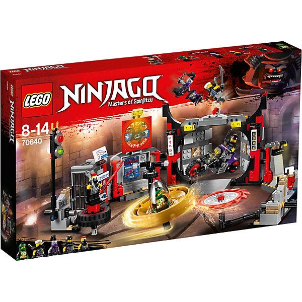 Конструктор LEGO Ninjago 70640: Штаб-квартира Сынов ГармадонаLEGO NINJAGO<br>Характеристики товара:<br><br>• возраст: от 8 лет;<br>• серия LEGO: Ninjago;<br>• материал: пластик;<br>• количество деталей: 530 шт.;<br>• количество минифигурок: 5;<br>• в наборе: штаб-квартира сынов Гармадона, мотоцикл Ультрафиолет, спиннер Ллойда, Они-маска ненависти, 3 катаны, 2 меча, 2 сюрикэна;<br>• размер штаба: 13х32х71 см;<br>• размер спиннера: 14х8х3 см;<br>• размер упаковки: 28х48х6 см;<br>• вес упаковки: 854 гр.;<br>• страна бренда: Дания.<br><br>Собранный конструктор LEGO Ninjago: «Штаб-квартира Сынов Гармадона» представляет сцену, в которой Зейн и Ллойд атакуют логово врагов с целью захвата Они-маски.<br><br>Для сюжетной игры в наборе есть все необходимое: 5 фигурок героев, обособленная территория бандитов с сооружениями и оружием, спиннер. Набор выполнен из прочного безопасного пластика.<br><br>Особенности и функционал:<br><br>• главные ворота имеют разрушаемые элементы для прохода;<br>• передняя панель банкомата съемная;<br>• лезвие и колесо вращаются;<br>• для запуска спиннера нужно вставить стержень в специальное отверстие и резко потянуть его, таким образом капсула с фигуркой отсоединится от рукояти и полетит вперед;<br>• подходит для использования с другими наборами серии LEGO Ninjago.<br><br>Конструктор LEGO Ninjago 70640: «Штаб-квартира Сынов Гармадона» можно купить в нашем интернет-магазине.<br>Ширина мм: 482; Глубина мм: 282; Высота мм: 68; Вес г: 857; Возраст от месяцев: 96; Возраст до месяцев: 168; Пол: Мужской; Возраст: Детский; SKU: 7221546;