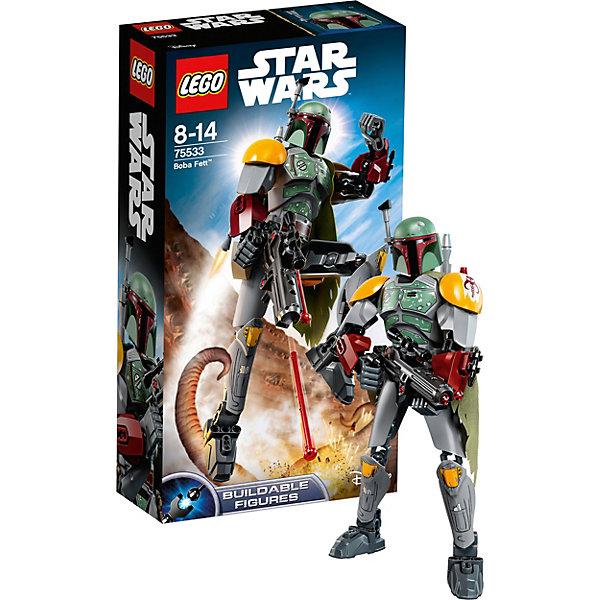 Конструктор LEGO Star Wars 75533: Боба ФеттLEGO<br>Характеристики товара:<br><br>• возраст: от 8 лет;<br>• серия LEGO: Star Wars;<br>• материал: пластик;<br>• количество деталей: 144 шт.;<br>• высота собранной фигурки: 25 см;<br>• размер упаковки: 6х14х26 см;<br>• страна производитель: Чехия, Дания.<br><br>Из деталей конструктора LEGO Star Wars 75533 можно собрать персонажа Боба Фетт. Сборная фигура является отличным подарком для любого фаната Звёздных войн и станет достойным элементом коллекции. Она не только эффектно выглядит, но и подарит удовольствие в процессе сборки, а благодаря своему функционалу и высокой подвижности станет отличной игрушкой.<br><br>Особенности:<br><br>• стреляющее оружие в комплекте;<br>• головной (шейный) шарнир, отвечающий за поворот и наклон головы;<br>• в каждой руке – плечевой, локтевой и кистевой шарниры;<br>• в каждой ноге – тазобедренный, коленный и в ступне.<br><br>Конструктор LEGO Star Wars 75533: Боба Фетт можно купить в нашем интернет-магазине.<br>Ширина мм: 265; Глубина мм: 144; Высота мм: 66; Вес г: 267; Возраст от месяцев: 96; Возраст до месяцев: 168; Пол: Мужской; Возраст: Детский; SKU: 7221581;
