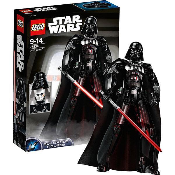 Конструктор LEGO Star Wars 75534: Дарт ВейдерLEGO<br>Характеристики товара:<br><br>• возраст: от 8 лет;<br>• серия LEGO: Star Wars;<br>• материал: пластик;<br>• количество деталей: 144 шт.;<br>• высота собранной фигурки: 25 см;<br>• размер упаковки: 6х14х26 см;<br>• страна производитель: Чехия, Дания.<br><br>Из деталей конструктора можно собрать персонажа Дарта Вейдера. Сборная фигура является отличным подарком для любого фаната Звёздных войн и станет достойным элементом коллекции. <br><br>Особенностью данной сборной фигуры является то, что маска на ней съемная и скрывает лицо Энакина Скайоукера. <br><br>Костюм Дарта Вейдера очень детализирован, есть интересная деталь в виде цепи на тканевом плаще. В набор также входит световой меч.<br><br>Особенности:<br><br>• съемная маска скрывает лицо Энакина Скайоукера;<br>• головной (шейный) шарнир, отвечающий за поворот и наклон головы;<br>• в каждой руке – плечевой, локтевой и кистевой шарниры;<br>• в каждой ноге – тазобедренный, коленный и в ступне.<br><br>Конструктор LEGO Star Wars 75534: Дарт Вейдер можно купить в нашем интернет-магазине.<br>Ширина мм: 264; Глубина мм: 192; Высота мм: 66; Вес г: 363; Возраст от месяцев: 108; Возраст до месяцев: 168; Пол: Мужской; Возраст: Детский; SKU: 7221582;