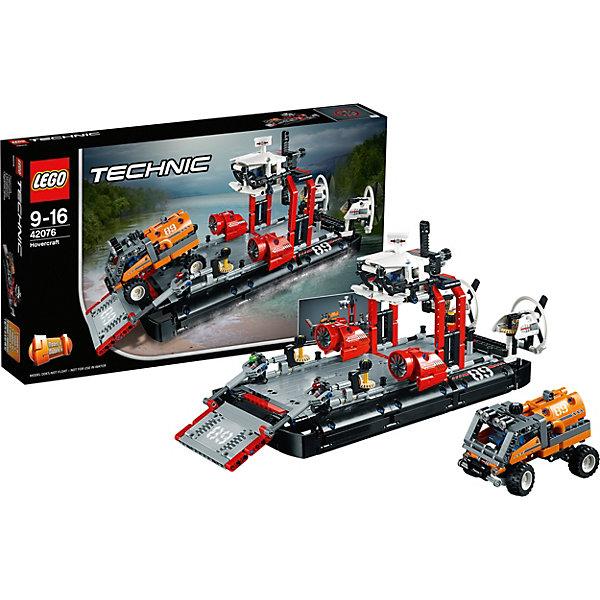 Конструктор LEGO Technic 42076: Корабль на воздушной подушкеLEGO<br>Характеристики товара:<br><br>• возраст: от 9 лет;<br>• серия LEGO: Technic;<br>• материал: пластик;<br>• количество деталей: 1020 шт.;<br>• размер судна: 20х40х16 см;<br>• размер упаковки: 28х48х7 см;<br>• вес упаковки: 1,37 кг.;<br>• страна изготовитель: Дания.<br><br>Из деталей конструктора LEGO Technic: «Корабль на воздушной подушке» можно собрать грузовое судно, которое перевозит экспедиционный грузовик. Модель детализирована, имеются подробные наклейки. Кроме того, из конструктора можно собрать реактивную лодку. Набор выполнен из качественного безопасного пластика.<br><br>Особенности и функционал:<br><br>• конструктор 2 в 1: судно на воздушной подушке/реактивная лодка;<br>• есть экспедиционный грузовик со съемным грузовым контейнером;<br>• вращающиеся задние вентиляторы;<br>• рабочее рулевое управление;<br>• функциональные рампа и подъемный кран.<br><br>Конструктор LEGO Technic 42076: «Корабль на воздушной подушке» можно купить в нашем интернет-магазине.<br>Ширина мм: 482; Глубина мм: 286; Высота мм: 81; Вес г: 1376; Возраст от месяцев: 108; Возраст до месяцев: 192; Пол: Мужской; Возраст: Детский; SKU: 7221586;