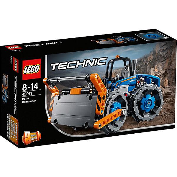 Консртуктор LEGO Technic 42071: БульдозерLEGO<br>Характеристики товара:<br><br>• возраст: от 8 лет;<br>• серия LEGO: Technic;<br>• материал: пластик;<br>• количество деталей: 171 шт.;<br>• размер бульдозера: 10х19х11 см;<br>• размер грузовика: 8х20х9 см;<br>• размер упаковки: 14х26х7 см;<br>• вес упаковки: 320 гр.;<br>• страна бренда: Дания.<br><br>Из деталей конструктора LEGO Technic: «Бульдозер» можно собрать не только функциональный бульдозер, но и грузовик. Машины обладают крупными подвижными колесами, детализированными элементами и окрашены в цвета, соответствующие настоящей технике. Набор выполнен из качественного безопасного пластика.<br><br>Особенности и функционал:<br><br>• конструктор 2 в 1: бульдозер/грузовик;<br>• отвал бульдозера трансформируется в фронтальный погрузчик;<br>• рабочее рулевое управление;<br>• подходит для использования с другими наборами серии LEGO Technic.<br><br>Конструктор LEGO Technic 42071: «Бульдозер» можно купить в нашем интернет-магазине.<br>Ширина мм: 264; Глубина мм: 147; Высота мм: 76; Вес г: 319; Возраст от месяцев: 96; Возраст до месяцев: 168; Пол: Мужской; Возраст: Детский; SKU: 7221589;