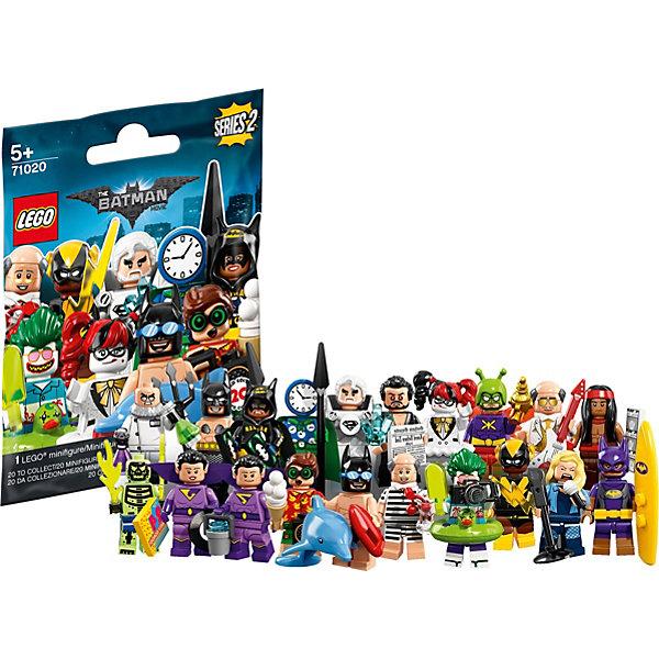 Минифигурки LEGO 71020: Лего фильм: Бэтмэн, серия 2LEGO Batman Movie<br>Характеристики товара:<br>• возраст: от 5 лет;<br>• серия LEGO: Minifigures;<br>• материал: пластик;<br>• количество деталей: 8 шт.;<br>• количество минифигурок в наборе: 1;<br>• в комплекте: детали минифигурки, подставка;<br>• размер упаковки: 9х1х12 см;<br>• вес упаковки: 11 гр.;<br>• страна бренда: Дания.<br><br>Вторая серия минифигурок LEGO: «Лего фильм: Бэтмэн» содержит 20 эксклюзивных персонажей. Фигурки могут стать частью игры с конструкторами LEGO или частью коллекции благодаря удобной подставке.<br><br>Особенности и функционал:<br>• лимитированная серия;<br>• каждая минифигурка LEGO DC поставляется в герметичной непрозрачной упаковке вместе с одним или несколькими дополнительными аксессуарами. Кроме того, внутри есть лист коллекционера и дисплей с печатным логотипом Batman; • фигурки в ассортименте: выбрать определенную заранее невозможно.<br><br>Минифигурки LEGO 71020: «Лего фильм: Бэтмэн», серия 2 можно купить в нашем интернет-магазине.<br>Ширина мм: 114; Глубина мм: 88; Высота мм: 12; Вес г: 11; Возраст от месяцев: 60; Возраст до месяцев: 192; Пол: Унисекс; Возраст: Детский; SKU: 7221603;