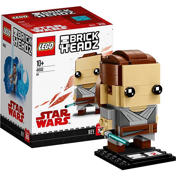 Сборная фигурка LEGO BrickHeadz 41602: РейЗвездные войны<br>Характеристики товара:<br><br>• возраст: от 10 лет;<br>• серия LEGO: BrickHeadz;<br>• материал: пластик;<br>• количество деталей: 119 шт.;<br>• в наборе: детали, опорная плита 4х4х1 см;<br>• высота фигурки: 7 см;<br>• размер упаковки: 12х9х7 см;<br>• вес упаковки: 126 гр.;<br>• страна бренда: Дания.<br><br>Сборная фигурка LEGO BrickHeadz 41602: «Рей» изображает одноименного персонажа из фильма «Звездные войны: последний джедай». Красочные детали воссоздают отличительные особенности героини, включая коричневые волосы, одеяние и джедайский меч.<br><br>С фигуркой интересно играть, придумывать разнообразные сюжеты. Также игрушка может стать частью коллекции и располагаться на пьедестале. Набор выполнен из качественного безопасного пластика.<br><br>Особенности и функционал:<br><br>• меч снимается;<br>• высокая детализация элементов;<br>• входит в коллекцию фигурок LEGO BrickHeadz по мотивам фильма «Звездные войны: последний джедай».<br><br>Сборную фигурку LEGO BrickHeadz 41602: «Рей» можно купить в нашем интернет-магазине.<br>Ширина мм: 123; Глубина мм: 93; Высота мм: 78; Вес г: 127; Возраст от месяцев: 120; Возраст до месяцев: 192; Пол: Унисекс; Возраст: Детский; SKU: 7221609;