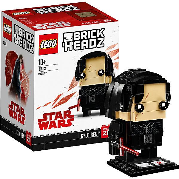 Сборная фигурка LEGO BrickHeadz 41603: Кайло РенЗвездные войны LEGO<br>Характеристики товара:<br><br>• возраст: от 10 лет;<br>• серия LEGO: BrickHeadz;<br>• материал: пластик;<br>• количество деталей: 130 шт.;<br>• в наборе: детали, опорная плита 4х4х1 см;<br>• высота фигурки: 7 см;<br>• размер упаковки: 12х9х7 см;<br>• вес упаковки: 137 гр.;<br>• страна бренда: Дания.<br><br>Сборная фигурка LEGO BrickHeadz 41603: «Кайло Рен» изображает одноименного персонажа из фильма «Звездные войны: последний джедай». Красочные детали воссоздают отличительные особенности героя, включая длинные черные волосы, шрам на лице, мантию и световой меч.<br><br>С фигуркой интересно играть, придумывать разнообразные сюжеты. Также игрушка может стать частью коллекции и располагаться на пьедестале. Набор выполнен из качественного безопасного пластика.<br><br>Особенности и функционал:<br><br>• меч снимается;<br>• высокая детализация элементов;<br>• входит в коллекцию фигурок LEGO BrickHeadz по мотивам фильма «Звездные войны: последний джедай».<br><br>Сборную фигурку LEGO BrickHeadz 41603: «Кайло Рен» можно купить в нашем интернет-магазине.<br>Ширина мм: 124; Глубина мм: 95; Высота мм: 81; Вес г: 136; Возраст от месяцев: 120; Возраст до месяцев: 192; Пол: Унисекс; Возраст: Детский; SKU: 7221610;