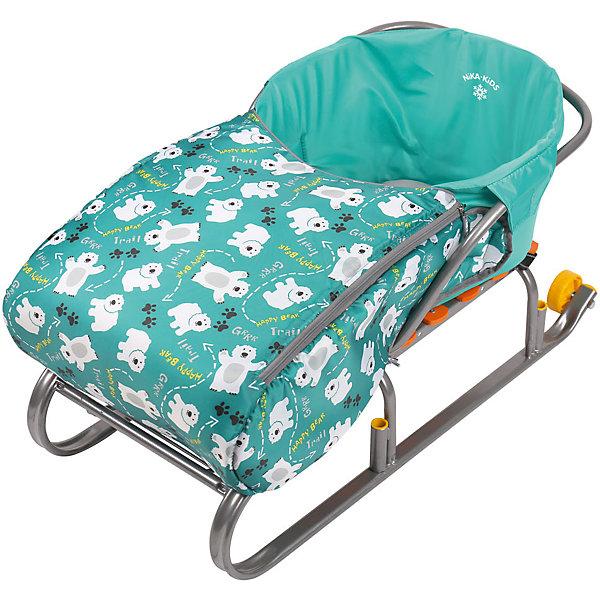 Сиденье для санок с чехлом для ног Nika-Kids, (мишки, изумруд)Санки и снегокаты<br>Характеристики товара:<br><br>• возраст: от 12 месяцев;                                                                                                                                                                                                   • пол: для девочек и мальчиков;<br>• цвет: изумруд;<br>• принт: мишки;<br>• комплект: сидение, чехол для ног на молнии;<br>• материал: текстиль, утеплитель, металл, пластик;<br>• упаковка: пакет;<br>• размер сидения в разложенном виде: 70x37x22 см.;<br>• размер сидения в собранном виде: 7x3x2,2 см.;<br>• страна обладатель бренда: Россия.<br><br>Сиденье для санок представлено в изумрудном цвете и обладает чехлом для ног, поэтому кататься в нем будет всегда тепло. Материал приятен на ощупь, не продувается и не промокает.<br><br>Чехол для ног держится на двух застежках-молниях, которые располагаются по бокам, поэтому в любой момент его можно откинуть. <br><br>Кататься на санках в таком сиденье менее травмоопасно.<br><br>Сиденье с чехлом для ног можно купить в нашем интернет-магазине.<br><br>Ширина мм: 650<br>Глубина мм: 250<br>Высота мм: 370<br>Вес г: 400<br>Возраст от месяцев: 12<br>Возраст до месяцев: 60<br>Пол: Унисекс<br>Возраст: Детский<br>SKU: 7221812