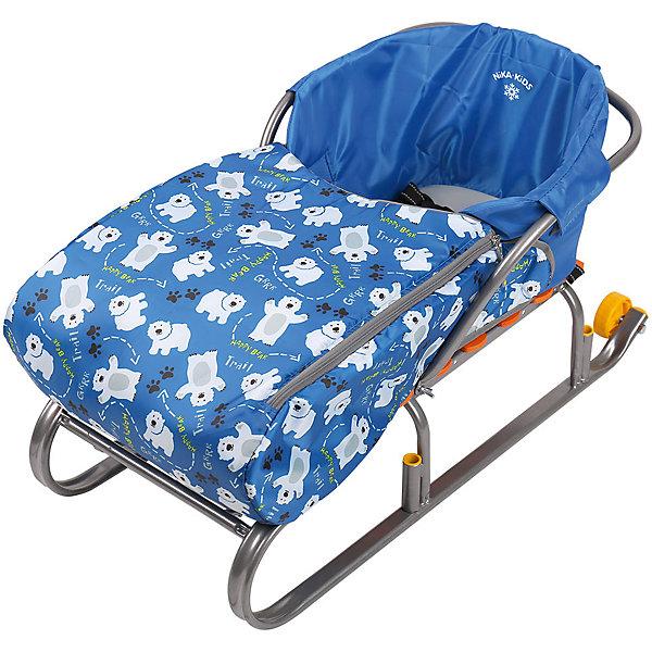 Сиденье для санок с чехлом для ног Nika-Kids, (мишки, синий)Санки и снегокаты<br>Характеристики товара:<br><br>• возраст: от 12 месяцев;                                                                                                                                                                                                   • пол: для девочек и мальчиков;<br>• цвет: синий;<br>• принт: мишки;<br>• комплект: сидение, чехол для ног на молнии;<br>• материал: текстиль, утеплитель, металл, пластик;<br>• упаковка: пакет;<br>• размер сидения в разложенном виде: 70x37x22 см.;<br>• размер сидения в собранном виде: 7x3x2,2 см.;<br>• страна обладатель бренда: Россия.<br><br>Сиденье для санок представлено в синем цвете и обладает чехлом для ног, поэтому кататься в нем будет всегда тепло. Материал приятен на ощупь, не продувается и не промокает.<br><br>Чехол для ног держится на двух застежках-молниях, которые располагаются по бокам, поэтому в любой момент его можно откинуть. <br><br>Кататься на санках в таком сиденье менее травмоопасно.<br><br>Сиденье с чехлом для ног можно купить в нашем интернет-магазине.<br><br>Ширина мм: 650<br>Глубина мм: 250<br>Высота мм: 370<br>Вес г: 400<br>Возраст от месяцев: 12<br>Возраст до месяцев: 60<br>Пол: Мужской<br>Возраст: Детский<br>SKU: 7221813