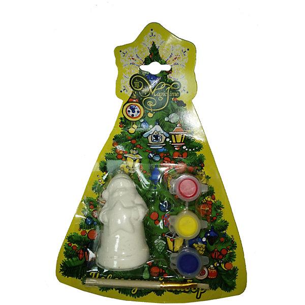Новогодний набор для росписи Magic Time Дед Мороз со звездойНовинки Новый Год<br>Новогодний набор для творчества ДЕД МОРОЗ СО ЗВЕЗДОЙ: новогоднее подвесное украшение из доломитовой керамики , 3 акварельные краски, кисть / 4х3.5х7.5 см арт.75931<br><br>Ширина мм: 80<br>Глубина мм: 40<br>Высота мм: 40<br>Вес г: 78<br>Возраст от месяцев: 24<br>Возраст до месяцев: 2147483647<br>Пол: Унисекс<br>Возраст: Детский<br>SKU: 7223791