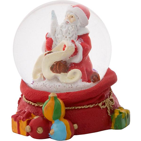 Снежный шар Magic Time Дед Мороз со спискомНовогодние сувениры<br>Характеристики:<br>• возраст: от 2 лет;<br>• материал: полирезина;<br>• материал шара: стекло;<br>• размер: 6х6х6 см;<br>• вес: 121 гр;<br>• страна производитель: Китай;<br>• бренд: Magic Time;<br>• тип упаковки: блистерная.<br>Новогодняя фигурка из полирезины с водяным шаром из стекла бренда Magic Time – это отличный подарок, который станет украшением дома. Игрушка изготовлена из безопасной для здоровья полирезины. Шар сделан из толстого стекла, которое не просто разбить, по этому такую игрушку смело можно давать детям от двух лет.<br>На цветной основе из новогодних подарков установлен стеклянный шар, внутри которого Дед Мороз. При движении внутри шара начинает кружиться искусственный снег. Такая статуэтка станет хорошим новогодним подарком для ребенка. Кроме того, впоследствии вы сможете подарить целую коллекцию таких игрушек.<br>Так же статуэтка может стать отличным сувенирным подарком не только детям, но и взрослым. Благодаря плотной упаковку при ударе игрушка не сломается, а это значит, что статуэтку можно смело отправлять почтой. Стеклянный шар не повредится, при этом основа из твердой полирезины так же останется целой.<br>Новогоднюю фигурку из полирезины с водяным шаром из стекла можно купить в нашем интернет-магазине.<br>Ширина мм: 60; Глубина мм: 60; Высота мм: 60; Вес г: 121; Возраст от месяцев: 24; Возраст до месяцев: 2147483647; Пол: Унисекс; Возраст: Детский; SKU: 7223794;