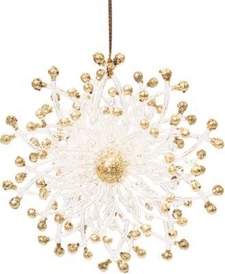Украшение на елку Magic Time Золотой цветок , 10,2 см фото-1