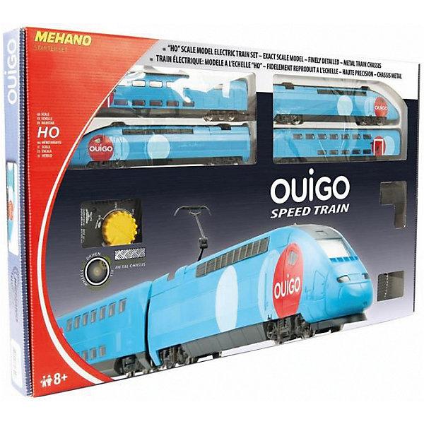Железная дорога Mehano Двухэтажный TGV OuigoЖелезные дороги<br>Все элементы комплекта совместимы с другими сборными моделями железной дороги «Mehano», так что юный машинист сможет прокладывать различные маршруты, строить новые станции и придумывать неповторимый, свой собственный уникальный ландшафт.<br><br>В комплекте:<br><br>Два локомотива (ведущий и ведомый);<br>два вагона (первого и второго класса);<br>железнодорожное полотно 2.85 м;<br>11 радиальных рельс;<br>1 радиальный рельс/контактный;<br>1 сетевой адаптер;<br>1 пульт-контроллер;<br>13 клипс/соединителей;<br>подробная инструкциями по сборке и управлению (с иллюстрациями)<br><br>Ширина мм: 640<br>Глубина мм: 380<br>Высота мм: 340<br>Вес г: 1700<br>Возраст от месяцев: 60<br>Возраст до месяцев: 2147483647<br>Пол: Унисекс<br>Возраст: Детский<br>SKU: 7223890
