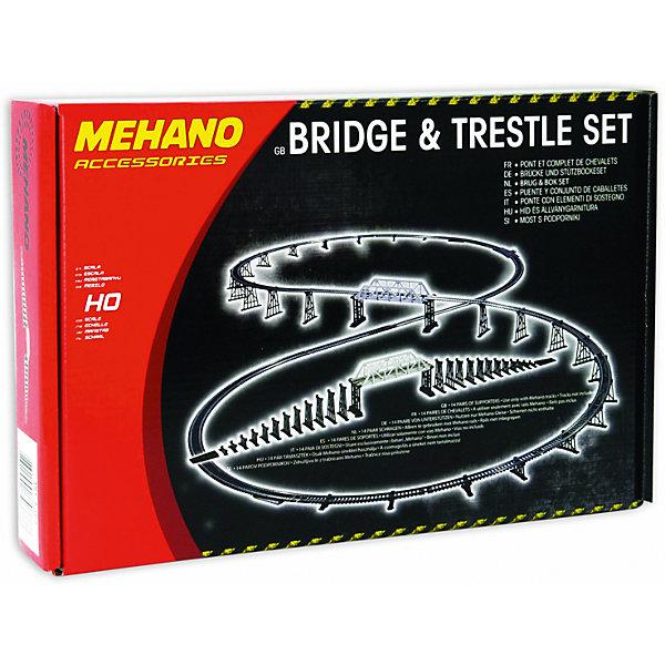 Мост с опорами для железной дороги MehanoЖелезные дороги<br>Рельсы в комплект не входят.<br>Подойдет под рельсы любого производителя в формате HO или масштабе 1/87 (FLEISCHMANN, Mehano, PIKO, Roco и т.д.)<br><br>Ширина мм: 290<br>Глубина мм: 190<br>Высота мм: 90<br>Вес г: 200<br>Возраст от месяцев: 36<br>Возраст до месяцев: 2147483647<br>Пол: Унисекс<br>Возраст: Детский<br>SKU: 7223896