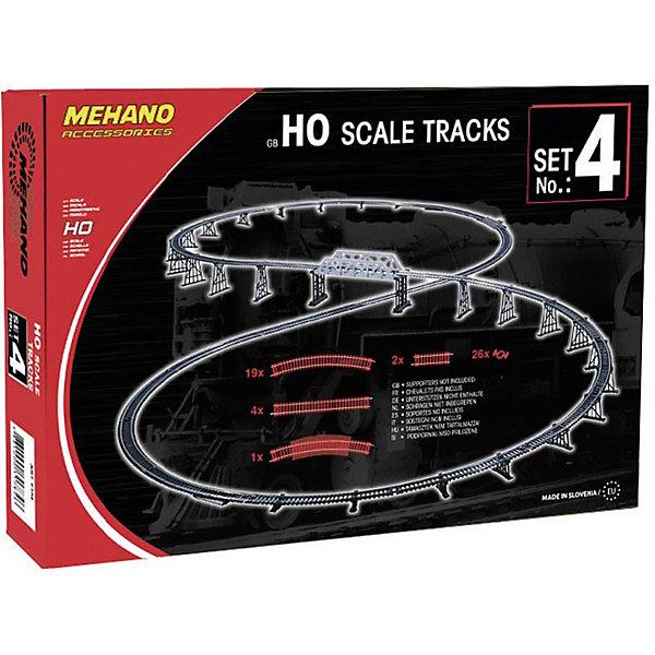 Набор рельс № 4 MehanoЖелезные дороги<br>Дополнительные элементы MEHANO, HO 1:87, рельсы набор: 19 радиусных, 4 прямых, 2 компенсатора прямых, 26 клипс, 1 радиус с подключением питания (F104)<br><br>Ширина мм: 280<br>Глубина мм: 190<br>Высота мм: 50<br>Вес г: 560<br>Возраст от месяцев: 36<br>Возраст до месяцев: 2147483647<br>Пол: Унисекс<br>Возраст: Детский<br>SKU: 7223908