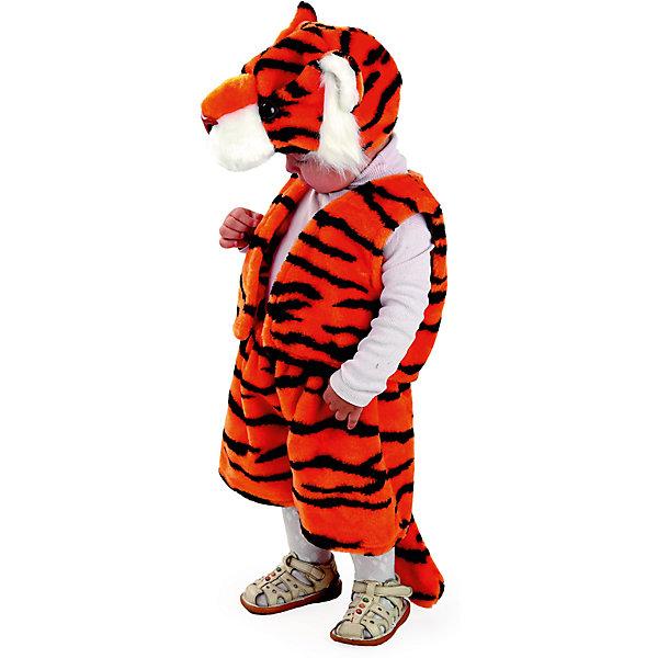Карнавальный костюм Тигренок Батик для мальчикаНовинки для праздника<br>Карнавальный костюм Тигренок Батик для мальчика<br>Карнавальный костюм (маска, жилет, шорты)<br>Состав:<br>Полиэстр 100%<br><br>Ширина мм: 450<br>Глубина мм: 80<br>Высота мм: 350<br>Вес г: 250<br>Возраст от месяцев: 48<br>Возраст до месяцев: 60<br>Пол: Мужской<br>Возраст: Детский<br>Размер: 110<br>SKU: 7224421
