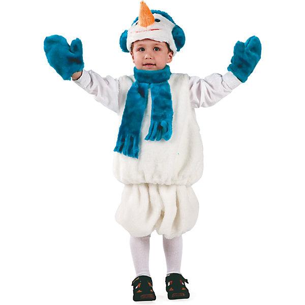 Карнавальный костюм Снеговик Батик для мальчикаНовинки Новый Год<br>Карнавальный костюм Снеговик Батик для мальчика<br>Карнавальный костюм (маска, безрукавка, шорты, варежки)<br>Состав:<br>Полиэстр 100%<br><br>Ширина мм: 450<br>Глубина мм: 80<br>Высота мм: 350<br>Вес г: 250<br>Возраст от месяцев: 48<br>Возраст до месяцев: 60<br>Пол: Мужской<br>Возраст: Детский<br>Размер: 110<br>SKU: 7224423