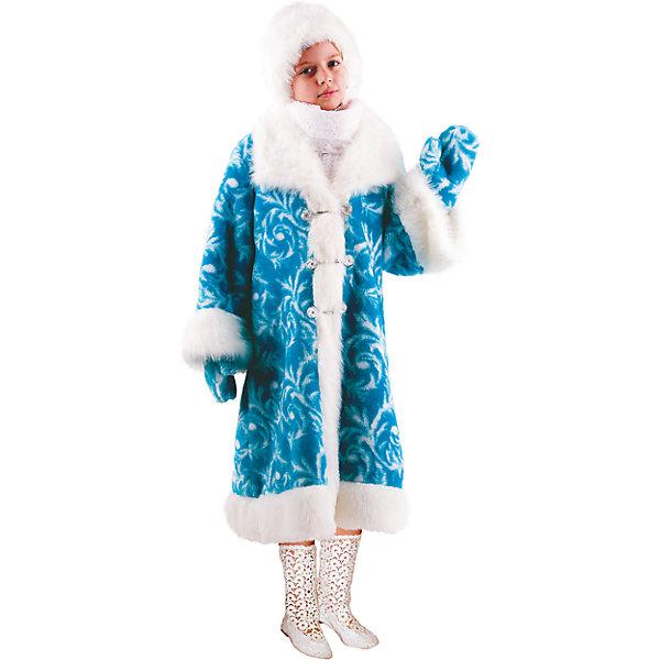 Карнавальный костюм Снегурочка Батик для девочкиНовинки Новый Год<br>Карнавальный костюм Снегурочка Батик для девочки<br>Карнавальный костюм (шуба, шапка, варежки)<br>Состав:<br>Полиэстр 100%<br><br>Ширина мм: 450<br>Глубина мм: 80<br>Высота мм: 350<br>Вес г: 250<br>Возраст от месяцев: 84<br>Возраст до месяцев: 96<br>Пол: Женский<br>Возраст: Детский<br>Размер: 122/128<br>SKU: 7224425