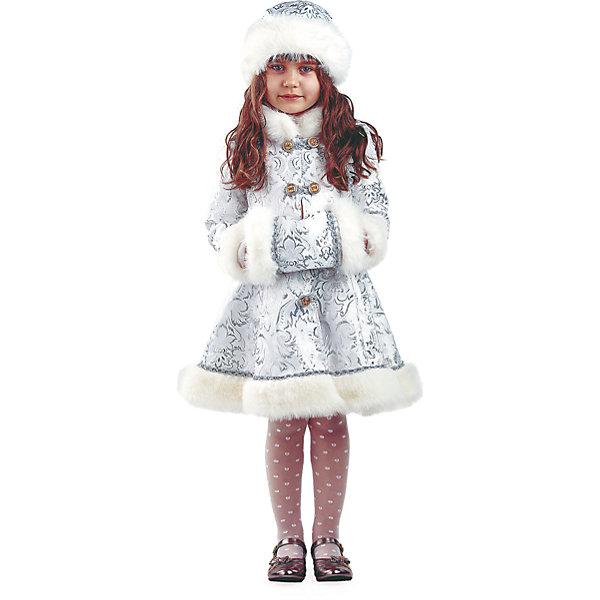 Карнавальный костюм Снегурочка Хрустальная Батик для девочкиКарнавальные костюмы для девочек<br>Карнавальный костюм Снегурочка Хрустальная Батик для девочки<br>Карнавальный костюм  (шуба, шапка, муфта)<br>Состав:<br>Полиэстр 100%<br><br>Ширина мм: 450<br>Глубина мм: 80<br>Высота мм: 350<br>Вес г: 250<br>Возраст от месяцев: 72<br>Возраст до месяцев: 84<br>Пол: Женский<br>Возраст: Детский<br>Размер: 122,116<br>SKU: 7224431