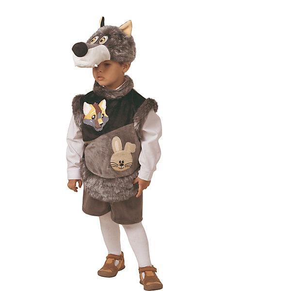 Карнавальный костюм Волчонок Зубастик Батик для мальчикаКарнавальные костюмы для мальчиков<br>Характеристики товара:<br><br><br>• цвет: серый<br>• комплектация: маска, безрукавка, шорты<br>• материал: искусственный мех<br>• сезон: круглый год<br>• особенности модели: для праздника<br>• страна бренда: Россия<br>• страна изготовитель: Россия<br><br>Карнавальный костюм Волчонок Зубастик комфортно сидит на ребенке благодаря качественному материалу. Такой набор для ребенка - полноценный наряд для праздника или сценки. Детский костюм Волчонок Зубастик сделан из искусственного меха. Карнавальный комплект для ребенка оригинальный и удобный.<br><br>Карнавальный костюм «Волчонок Зубастик» Батик для мальчика можно купить в нашем интернет-магазине.<br><br>Ширина мм: 450<br>Глубина мм: 80<br>Высота мм: 350<br>Вес г: 250<br>Цвет: серый<br>Возраст от месяцев: 48<br>Возраст до месяцев: 60<br>Пол: Мужской<br>Возраст: Детский<br>Размер: 110<br>SKU: 7224440