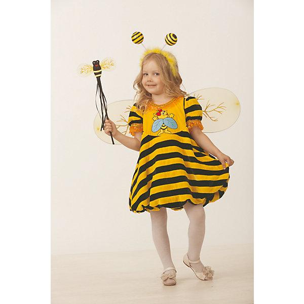 Карнавальный костюм Пчелка Jeanees для девочкиНовинки для праздника<br>Карнавальный костюм Пчелка Jeanees для девочки<br>Карнавальный костюм (платье, ободок-усики Пчелка, набор Пчелка)<br>Состав:<br>Полиэстр 100%<br>Ширина мм: 450; Глубина мм: 80; Высота мм: 350; Вес г: 250; Возраст от месяцев: 48; Возраст до месяцев: 60; Пол: Женский; Возраст: Детский; Размер: 110,116,104; SKU: 7224494;